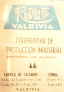 Afiche sobre la Cooperativa de producción industrial Rudloff en 1970 .